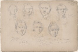 Baker; Mrs Tucker; Mr Tucker; Mr L. Sargeant; Mr Patterson; Mr Corbett; Mr B. Nicholson, attributed to William Egley - NPG D23313(45)