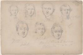Baker; Mrs Tucker; Mr Tucker; Mr L. Sargeant; Mr Patterson; Mr Corbett; Mr B. Nicholson, attributed to William Egley - NPG D23313(45)