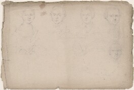 Five unknown sitters, attributed to William Egley - NPG D23313(43)