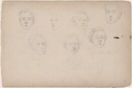 Bishop; Mr Scott and five unknown sitters, attributed to William Egley - NPG D23313(41)