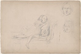 A sleeping girl and two unknown women, attributed to William Egley - NPG D23313(37)