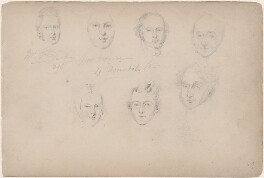Mr Gill and six unknown sitters, attributed to William Egley - NPG D23313(35)