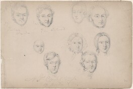 Thurburn; Price Richmond and seven unknown sitters, attributed to William Egley - NPG D23313(33)