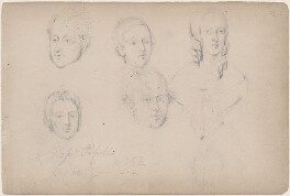 Five unknown sitters, attributed to William Egley - NPG D23313(29)
