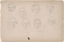 Miss Duff; C.O. Mande; Mr and Mrs Duff and four unknown sitters, attributed to William Egley - NPG D23313(23)