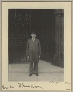 Sir William Randal Cremer, by Benjamin Stone - NPG x15738