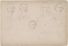 Constable; Leversham; J.E. March; Mrs March and her child, attributed to William Egley - NPG D23313(17)