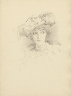 Maud (née Holt), Lady Beerbohm Tree, after Violet Manners, Duchess of Rutland - NPG D23388