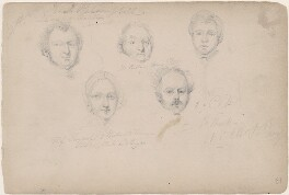 Mr R.K.R. Campbell; Mr Cullan; possibly Miss Twythorpe and two unknown sitters, attributed to William Egley - NPG D23313(9)