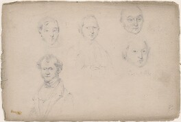 Boulton; Mr Bailey; Captain Hills and two unknown sitters, attributed to William Egley - NPG D23313(7)