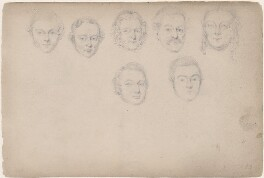 Seven unknown sitters, attributed to William Egley - NPG D23313(5)