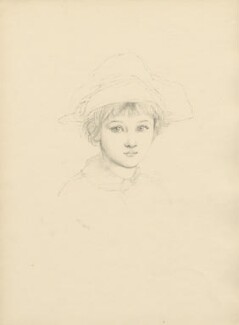 'Miss Madeline Bourke' (possibly Norah Mary Madeleine Lindsay (née Bourke)), after Violet Manners, Duchess of Rutland - NPG D23396