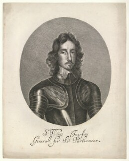 Thomas Fairfax, 3rd Lord Fairfax of Cameron, after William Faithorne, after  Robert Walker - NPG D23411