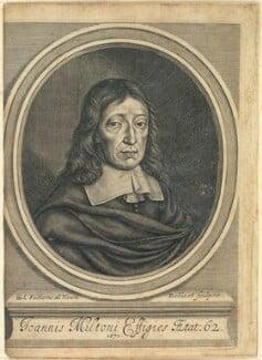 John Milton, by William Faithorne, 1670 - NPG D22857 - © National Portrait Gallery, London