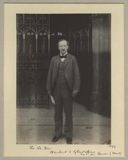 Herbert John Gladstone, 1st Viscount Gladstone, by Benjamin Stone - NPG x16035