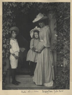 Leopold Hamilton Myers; Silvia Constance Myers; Eveleen Myers (née Tennant), by Eveleen Myers (née Tennant), circa 1890 - NPG Ax68395 - © National Portrait Gallery, London