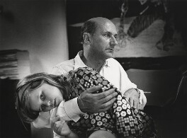 Donald Pleasence with his daughter, by Godfrey Argent - NPG x165961