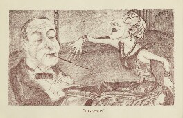 A Fantasy (probably Noël Coward; probably Gertrude Lawrence), by Mark Wayner (Weiner) - NPG D23323