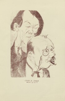 'Jimmy & James: Right & Left' (two unknown sitters), by Mark Wayner (Weiner) - NPG D23331