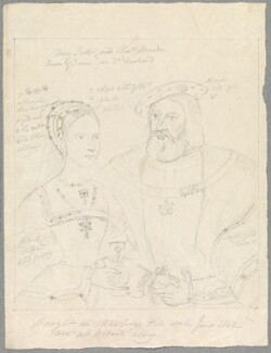 Mary Tudor and Charles Brandon, 1st Duke of Suffolk, probably by Alfred Thomas Derby, after  Unknown artist - NPG D23063