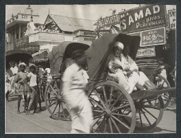 'Street scene, Madras', possibly by Lady Ottoline Morrell - NPG Ax143697