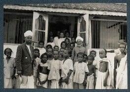 'Elementary School, Conjeevaram', by Lady Ottoline Morrell - NPG Ax143718