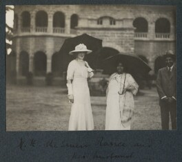 Lady Ottoline Morrell with Senior Ranee and her husband, by Philip Edward Morrell - NPG Ax143724