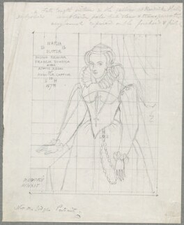 Mary, Queen of Scots, by William Derby, after  P. Oudry, after  Nicholas Hilliard - NPG D23067