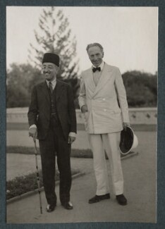 Sir Mirza Muhammad Ismail; Philip Edward Morrell, by Lady Ottoline Morrell - NPG Ax143745