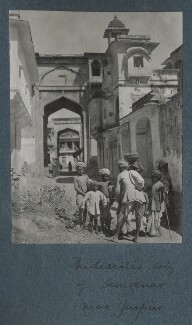 'The deserted city of Sangenar near Jaipur', possibly by Lady Ottoline Morrell - NPG Ax143812