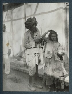 'Scenes at Udaipur', possibly by Lady Ottoline Morrell - NPG Ax143827