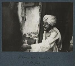 'A bracelet maker, Udaipur', possibly by Lady Ottoline Morrell - NPG Ax143828