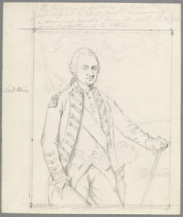 Robert Clive, by William Derby, after  Miss Jane Drummond, after  Nathaniel Dance (later Sir Nathaniel Holland, Bt) - NPG D23074