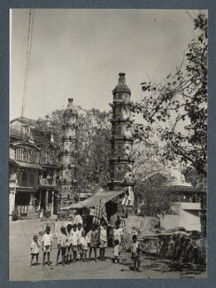 'Bombay, on the edge of a sacred pool', possibly by Lady Ottoline Morrell - NPG Ax143837