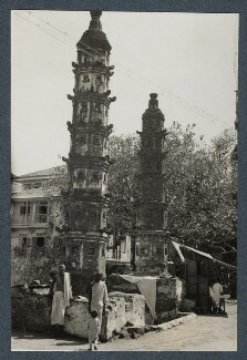 'Bombay, on the edge of a sacred pool', possibly by Lady Ottoline Morrell - NPG Ax143838