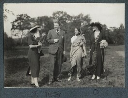 Julian Vinogradoff (née Morrell); Sir Victor Martin Reeves Goodman; Philomena Thumboo Chetty; Lady Ottoline Morrell, by Philip Edward Morrell - NPG Ax143839