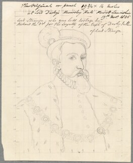 George Stanley, Lord Strange, by William Derby, after  Unknown artist - NPG D23084