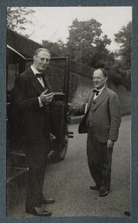 Philip Edward Morrell; Walter de la Mare, by Lady Ottoline Morrell - NPG Ax143871