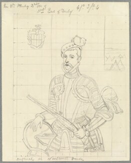 Robert Dudley, 1st Earl of Leicester, possibly by William Derby - NPG D23085