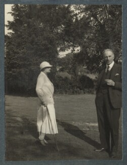 Dorothy Violet Wellesley (née Ashton), Duchess of Wellington; Philip Edward Morrell, by Lady Ottoline Morrell - NPG Ax143878