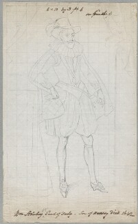 William Stanley, 6th Earl of Derby, by William Derby, after  Unknown artist, possibly after  Marcus Gheeraerts the Younger - NPG D23090