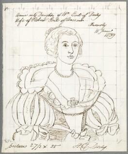 Anne Ker (née Stanley), Countess of Ancram, by Alfred Thomas Derby, after  Gerrit van Honthorst, 10 June 1839 (1638) - NPG D23091 - © National Portrait Gallery, London