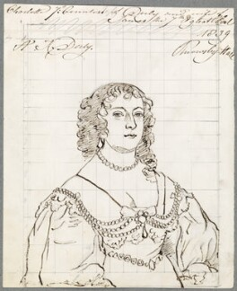Charlotte Stanley (née de La Trémoille), Countess of Derby, by Alfred Thomas Derby, after  Sir Anthony van Dyck - NPG D23094