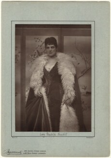 Jeanette ('Jennie') Churchill (née Jerome), Lady Randolph Churchill, by Herbert Rose Barraud, published 1888 - NPG x12762 - © National Portrait Gallery, London
