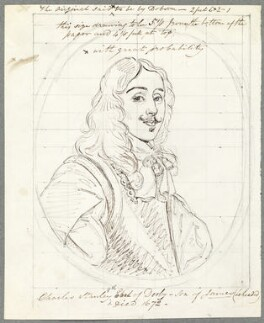 Charles Stanley, 8th Earl of Derby, probably by William Derby, possibly after  Sir Peter Lely - NPG D23103