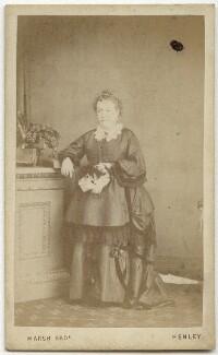 Sarah Halliday (née Taylor), by Marsh Brothers - NPG x128682