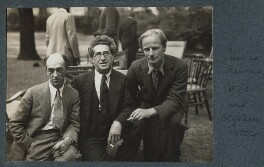 James Stephens; Samuel Solomonovich ('Kot') Koteliansky; Stephen Potter, by Lady Ottoline Morrell - NPG Ax143883