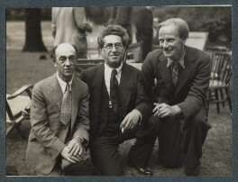 James Stephens; Samuel Solomonovich ('Kot') Koteliansky; Stephen Potter, by Lady Ottoline Morrell - NPG Ax143884