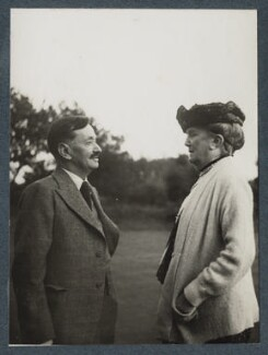 Simon Bussy; Dame Ethel Mary Smyth, by Lady Ottoline Morrell - NPG Ax143893
