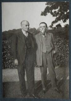 Sir Edward Howard Marsh; Gordon Bottomley, by Lady Ottoline Morrell, circa 1935 - NPG Ax143901 - © National Portrait Gallery, London